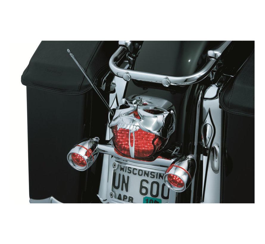 Harley Davidson achterlicht zombiedeksel - Chroom