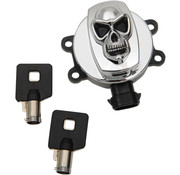 Drag Specialities Skull ignition Switch 14-20 FLHR, 11-17 FLS/​FLST, 12-17 FLD, FXDF, FXDWG & FXDB