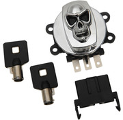 Drag Specialities Skull ignition Switch 99-11 FXDWG, 08-11 FXDC/​FXDF, 00-10 FXST/​FLST & 99-13 FLHR