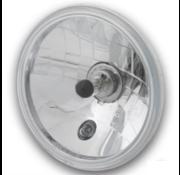 "Custom Chrome 7"" Headlight Insert, Clear, E-Approved, Black Dot Fits: > 7 inch headlight housing"