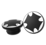 CPV gas tank gas cap set - malteze cross Fits: > 83-95 H-D models