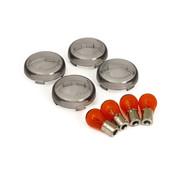 TC-Choppers knipperlicht lens kit bullet smoke Past op:> 00-19 HD