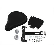 Wyatt Gatling Black Leather Solo Seat and Mount Kit Fits: > FXD 2006-2017
