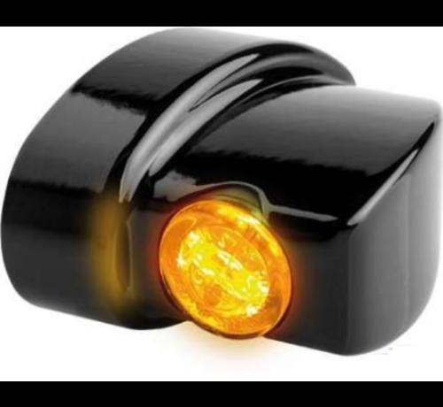 TC-Choppers Winglet LED-Blinker der NANO-Serie Schwarze oder verchromte Rauch-LED Passend für:> 93-20 Sportster, 93-17 Dyna, 93-20 Softail