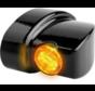Winglet LED-Blinker der NANO-Serie Schwarze oder verchromte Rauch-LED Passend für:> 93-20 Sportster, 93-17 Dyna, 93-20 Softail