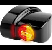 TC-Choppers Winglet 3in1 LED Blinker / Rücklicht / Bremse Schwarz oder Chrom Rauch LED Passend für:> 93-20 Sportster, 93-17 Dyna, 93-20 Softail