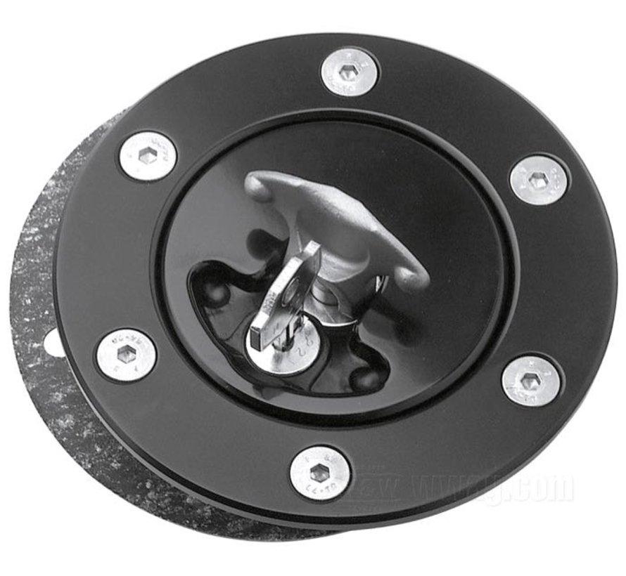 Locking Gas Caps EVO Softail Rigid FL FXST FLST Vented /& Non-Vented