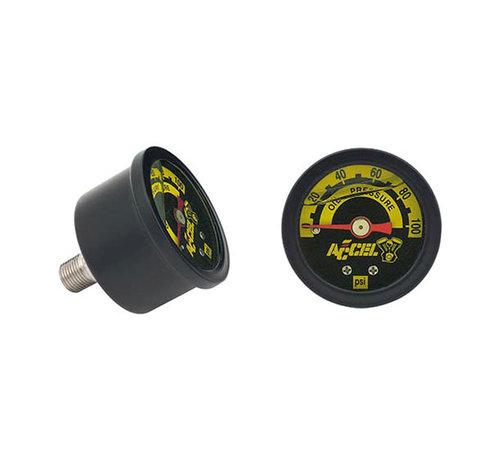 Accel Beschleunigungsmesser, Öldruck 100 psi schwarz oder chrom Passend für:> Universal