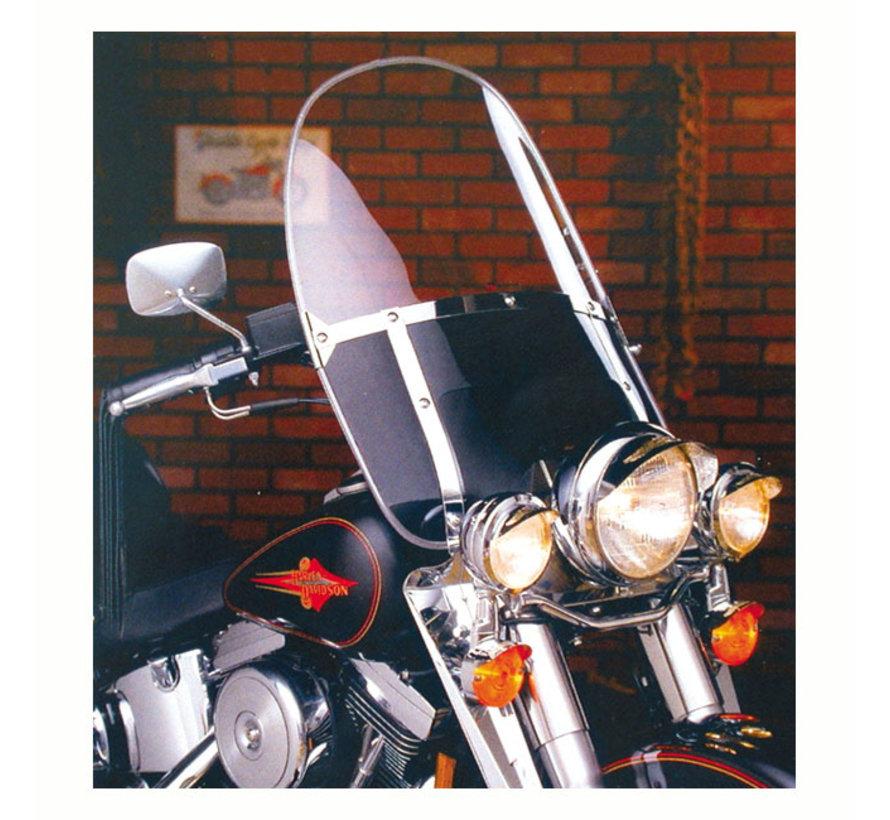 Beaded Met doorzichtige bovenruit en zwarte onderruit voorruit Past op:> 49-59 FL; 87-17 FL Softail; 80-83 FXWG; 93-05 FXDW