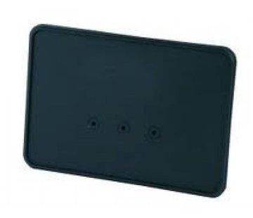 CPV nummerplaat zijmontage zwart of gepolijst
