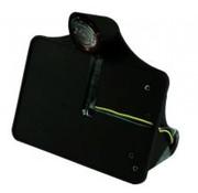 CPV Kfz-Kennzeichen, seitliche Montage, schwarz mit LED-Licht