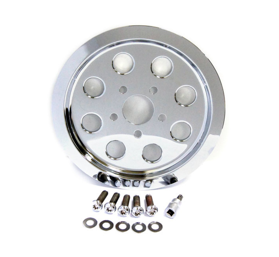 TC-Choppers Pulley Cover, gaten (61T) Past op:> 91-99 XL Sportster