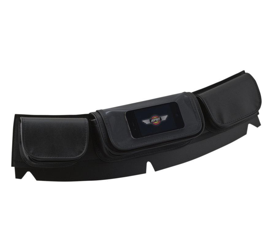 Hopnel Clear Pocket Tri-Pouch Windshield Bag Fits: > 99‑20 FLHT/ FLHX/ FLHTCUTG