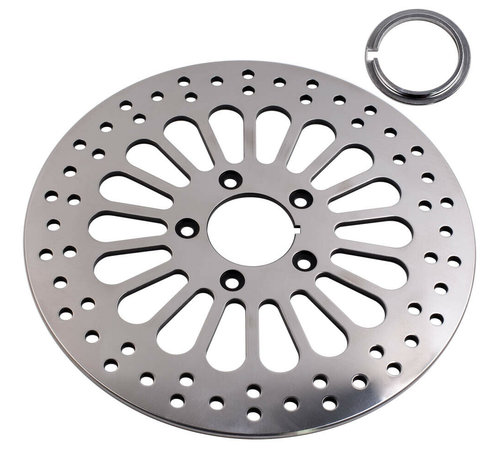 TC-Choppers TC-Choppers super spoke front rotor stainless steel polished  for HD 1984-2007 size 11.5 inch