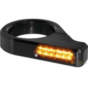 TC-Choppers Classic LED Turn Signal Black or Silver Anodized Clear LED Fits: > 54 - 56 mm fork tubes