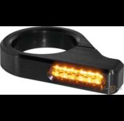 TC-Choppers Klassieke LED richtingaanwijzer zwart of zilver geanodiseerd heldere LED Past op:> 54 - 56 mm vorkbuizen