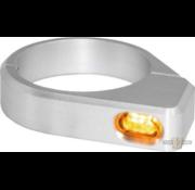 TC-Choppers Micro LED richtingaanwijzer zwart of zilver geanodiseerd heldere LED Past op:> 47 - 49 mm vorkbuizen.