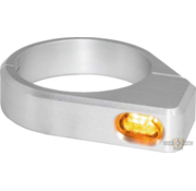 TC-Choppers Micro LED Turn Signal Black or Silver Anodized Clear LED Fits: > 54 - 56 mm fork tubes