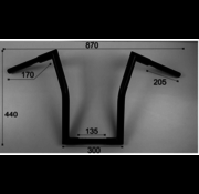 Vandema products Fat Square high Ape Hanger  Fits: > 1 inch handlebar clamps