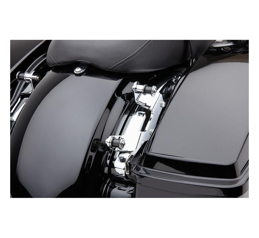 Docking Kit for Detachable Backrest black or chrome Fits : > 09‑13 FLHR/FLT/FLHT/FLTR/FLHX Models