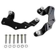 Cobra Docking Kit for Detachable Backrest black or chrome Fits : > 09‑13 FLHR/FLT/FLHT/FLTR/FLHX Models