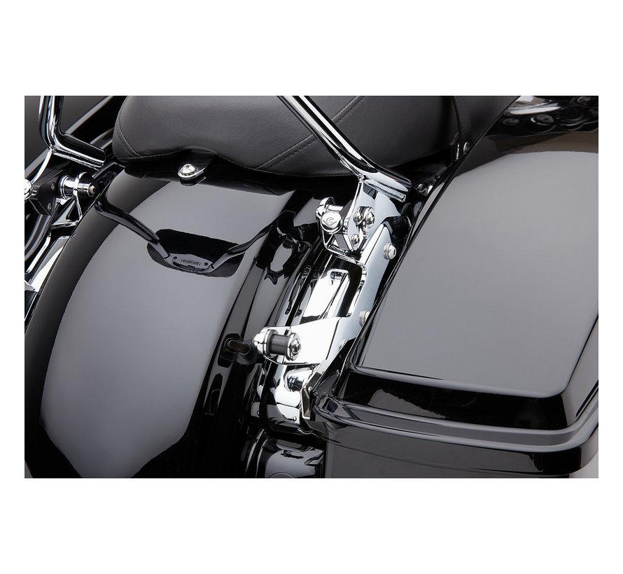 Docking Kit voor afneembare rugleuning zwart of chroom Past op: > 14-20 FLHR/FLT/FLHT/FLTR/FLHX modellen