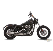Falcon Double Groove Slip-On Muffler Black  or Polished Fits: > 06-17 Dyna