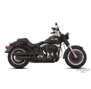 Falcon Double Groove Slip-On Muffler Black  or Polished  Fits: > Softail 2018-up