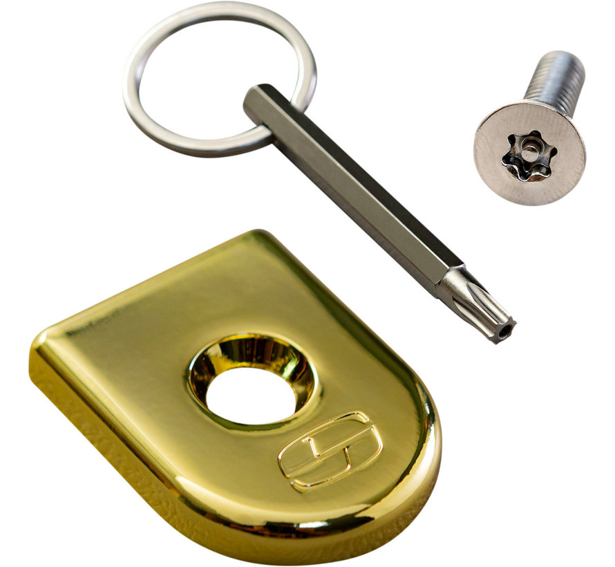Saddleman seat screw security Black, Chrome or Gold
