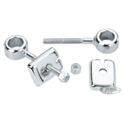 TC-Choppers Chrome rear wheel adjusters Fits: > 1973 - 1986 Sporster