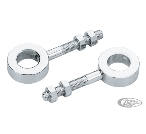 TC-Choppers Chrome rear wheel adjusters Fits: > 1954 - 1978 Sporster