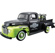Maisto Model Ford 1948 F1 pickup and 1948 Panhead 1:24 Fits: > Universal