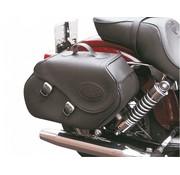 """Texas leather """"Click & Lock"""" zadeltassen Geschikt voor: > alle Dyna . 1991-2006"""