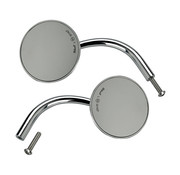 Biltwell utility ronde spiegels chroom ECE appr.- chroom