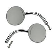 Biltwell utility round mirrors chrome or black ECE appr.- Chrome