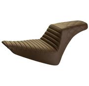 Saddlemen seat Step-up Rear LS Front Tuck and Roll brown Fits:> Softail 12-17 FLS, 11-13 FXS Slim /Blackline