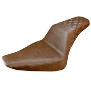 Saddlemen seat Step-Up rear LS brown Fits:> Softail 2012‐2017 FLS,  2011-2013 FXS Slim/Blackline