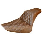 Saddlemen seat Step-Up Front LS brown Fits:> Softail 12-17 FLS, 11-13 FXS Slim /Blackline