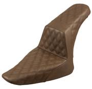 Saddlemen seat Step-Up  Full LS brown Fits:> Softail 12-17 FLS, 11-13 FXS Slim /Blackline