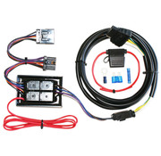 Khrome works Trailer 4-Wire Connector Kit fits: > 97‑13 FLT/ FLHT/ FLHR, 06‑09 FLHX, 07‑09 FLTR, 01 FLTRU, 00‑17 FLSTC with 8‑pin rear light plugs