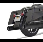 Bassani DNT Megaphone Slip-On Mufflers chrome or black Fits:> 2017 FLHT/FLHR/FLHX/FLTRU/ FLTRX