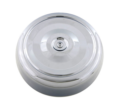 "Air cleaner cover Chrome; Steel; 7"" diameter;"