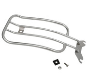 """Motherwell Motherwell 7"""" Solo Luggage Rack black or chrome Fits: > Softail 18‑20 FLHC"""