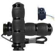 Avon Avon verwarmde Handvatten Kraton rubber Zwart of Chroom Past op: > 08-21 HD met e-throttle