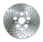 TC-Choppers brake rotor drilled 10 inch stainless Fits: > Rear 73-80 FL,FX. Front: 73-84 FL; 73 FX,XL