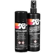 K&N air filter service  kit filter recharger - black