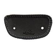 Mustang mini fender bib. Plain with braided edges. Black Fits: > 00-03 FLSTS; 06-07 FLSTSC; 07-17 FLSTC; 05-17 FLSTN; 97-21 FLT/Touring