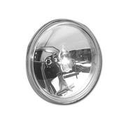 TC-Choppers headlight CLEAR 4 1/2 inch HALOGEN SEALBEAM Fits: > 4.5 inch light housing
