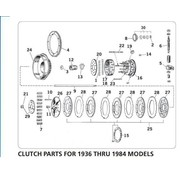 primary clutch parts for 1936 - 1984