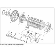 primary clutch parts for 1984 - 1989 Big Twin